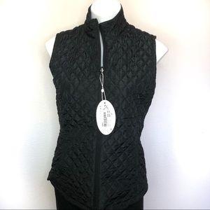 Greg Norman Reversible Vest Black Giraffe Print S